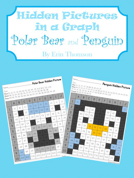 Hidden Pictures in a Graph ~ Polar Bear and Penguin