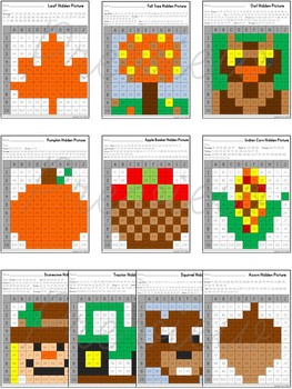 Hidden Pictures in a Graph ~ Seasons {Fall}