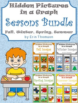 Hidden Pictures in a Graph ~ Seasons {Fall, Winter, Spring}