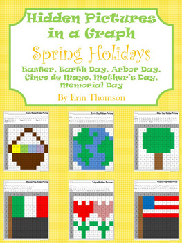 Hidden Pictures In A Graph Spring Holidays Tpt