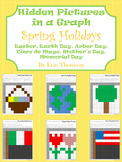 Hidden Pictures in a Graph ~ Spring Holidays {April and May}