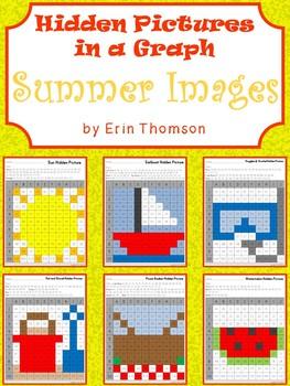 Hidden Pictures in a Graph ~ Summer Fun