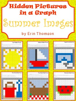 Hidden Pictures in a Graph ~ Summer Fun