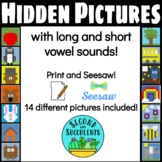 Hidden Pictures with long and short vowel words
