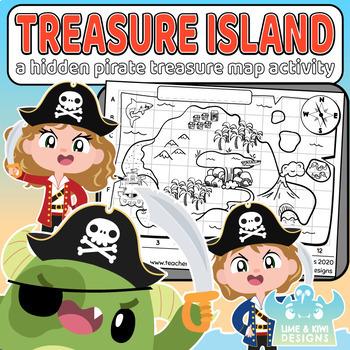 Hidden Pirate Treasure Island Freebie Activity Sheet  - Digital Download
