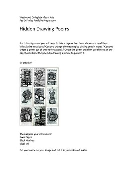 Hidden Poem Drawings