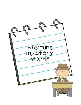 Hidden Rhyme Word Work - Common Core Aligned