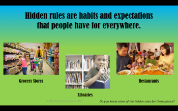 Hidden Rules; Teaching Students about the Unspoken Rules