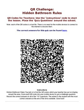 Hidden Rules of the Bathroom QR Scavenger Hunt