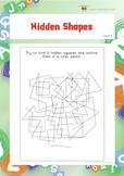 Hidden Shapes (Visual Perception Worksheets)