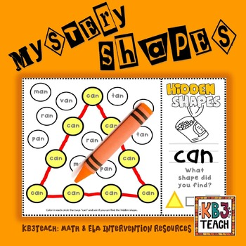 "CVC Mystery Shapes ""Short A"" (triangle, rectangle, square)  K.G.2"