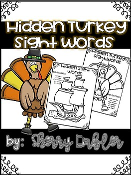 Hidden Sight Word Turkey Search and Color