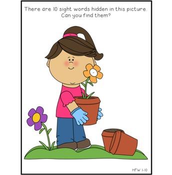 Hidden Sight Words