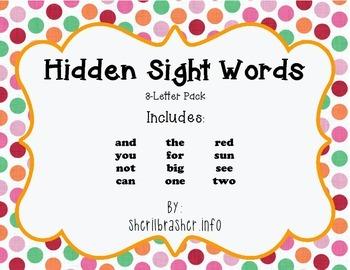 Hidden Sight Words:  3-Letter PreK Pack