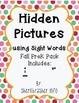 Hidden Sight Words: Fall Picture Sampler PreK Pack