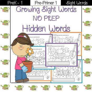 Sight Word- Hidden Words Pre-Primer 1