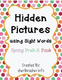 Hidden Sight Words: Spring Picture PreK-K Pack