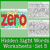 Hidden Sight Words Worksheets - Sing & Spell Vol. 5