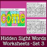 Hidden Sight Words Worksheets - Sing & Spell Vol. 3