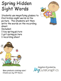 Hidden Spring Sight Words (Magnifying Glass Activity)