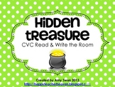 Hidden Treasure CVC Read & Write the Room Literacy Center or Station FREEBIE