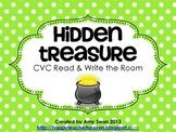Hidden Treasure CVC Read & Write the Room Literacy Center or Station FREEBIE