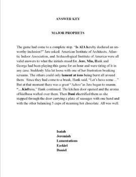 Hidden Word Stories - Books of the Bible