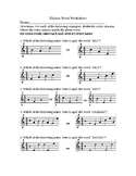 Hidden Word Worksheet, Treble Clef