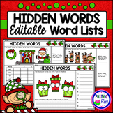 Hidden Words: Christmas I Spy Sight Words - Editable