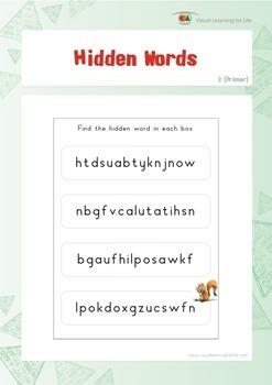 Hidden Words (Kindergarten)