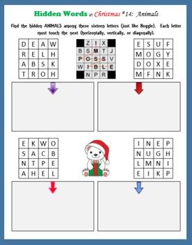 Hidden Words at Christmas