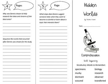 Hidden Worlds Trifold - California Treasures 5th Grade Unit 5 Week 1