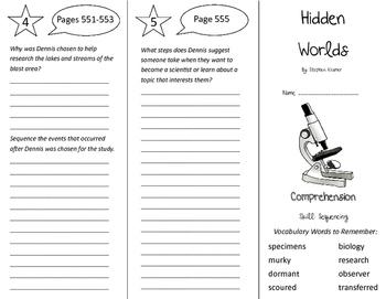 Hidden Worlds Trifold - California Treasures 5th Grade Uni
