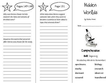 Hidden Worlds Trifold - Treasures 5th Grade Unit 2 Week 1 (2011)