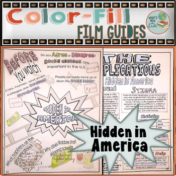 Hidden in America Color-fill Film Guide Doodle Notes