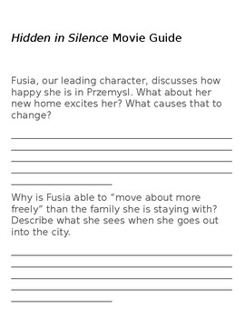 Hidden in Silence Movie Guide