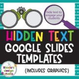 Hidden or Mystery Text Template for Classroom Resources