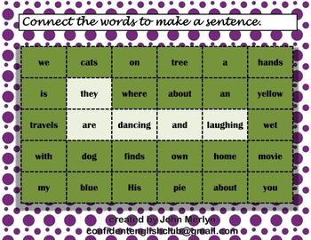 Hidden sentences Present Continuous (11 worksheets)