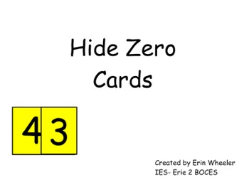 Hide 0 Cards