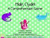 Hide, Clyde! Comprehension Game Kindergarten