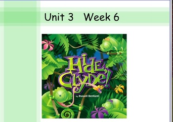 Hide Clyde Unit 3 Week 6 Reading Street Common Core