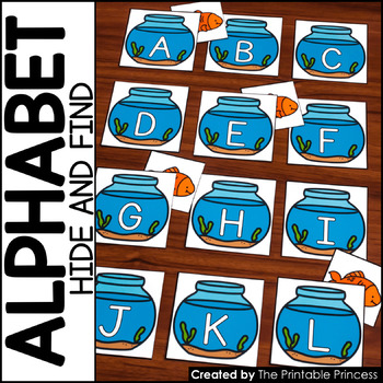 Hide & Find for Pocket Charts {Alphabet Activities to Teach Letter Recognition}