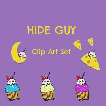 Hide Guy Clip Art Set
