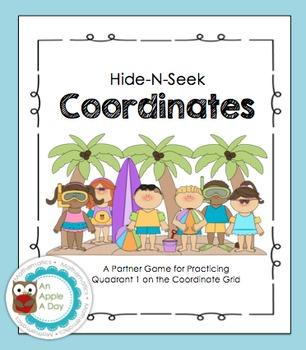 Hide-N-Seek Coordinate Grids: A Battleship Style Partner Game {Summer Edition}
