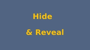 Hide & Reveal Picture game
