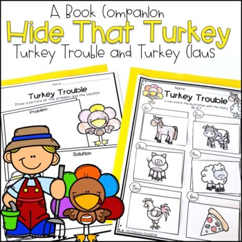 Hide That Turkey - Literacy Ideas for Turkey Trouble and T