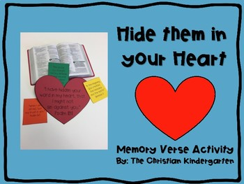 Hide Them in Your Heart Memory Verse Activity
