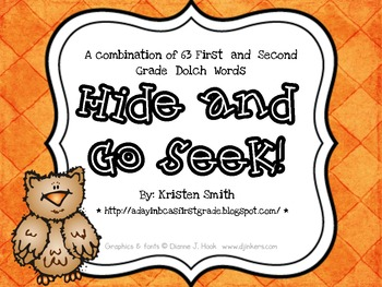 Hide and Go Seek Sight Word Game