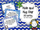 Hide and Hug Olaf Frozen Notes