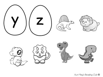 Hide and Seek Alphabet Letters - Dinosaur Eggs